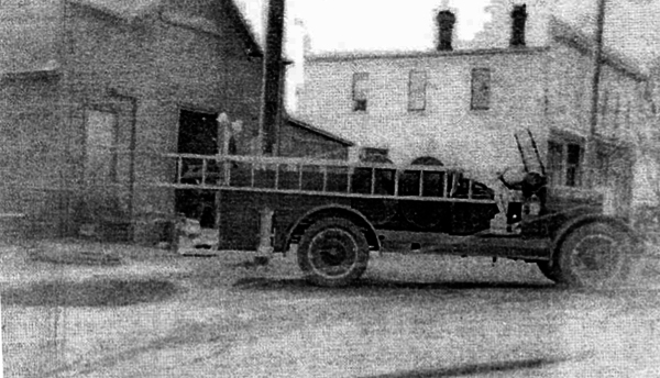 Troy Center Volunteer Fire Department organized 1914, shown by Carl Huths Blacksmith Shop